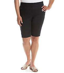Laura Ashley® Plus Size Solid Skimmer Shorts
