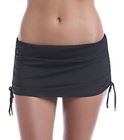 Calvin Klein Side Shirred Skirted Bottoms