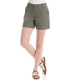 One 5 One Double Button Roll Cuff Shorts