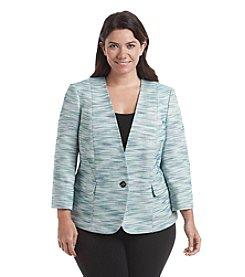 Kasper® Plus Size One Button Multi Tweed Jacket