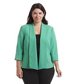 Kasper® Plus Size Soild Stretch Crepe Flyaway Jacket