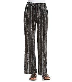 Rafaella® Petites' Textured Stripe Print Pants