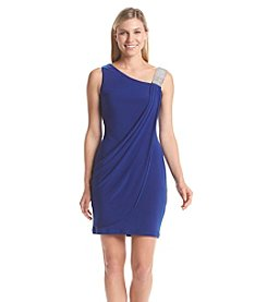 Betsy & Adam® One Shoulder Draped Dress