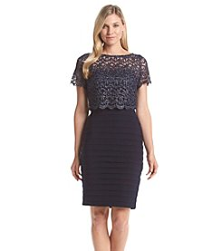 Betsy & Adam® Lace Shutter Dress