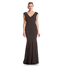 Betsy & Adam® V-Neck Gown