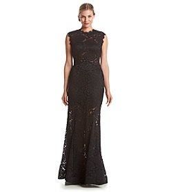Betsy & Adam® Lace Mermaid Gown