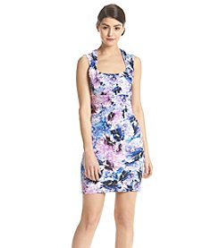 GUESS Floral Scuba Sheath Dress