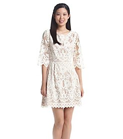 Eliza J® Lace Fit And Flare Dress