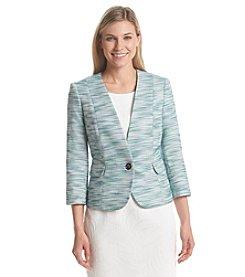 Kasper® One Button Tweed Jacket