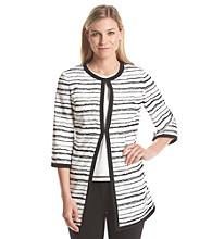 Kasper® Open Stripe Jacquard Jacket