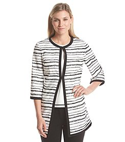 Kasper® Open Stripe Jacquard Jacket