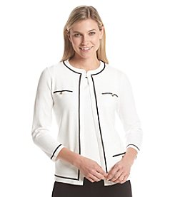 Kasper® Straight Cardigan