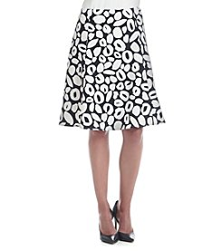Nine West® Twill Fit And Flare Skirt