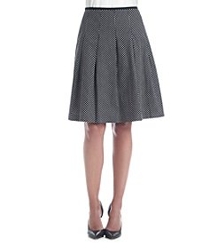 Nine West® Poplin Pleated A-Line Skirt