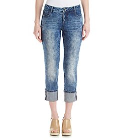 Ruff Hewn Washed Cropped Jeans