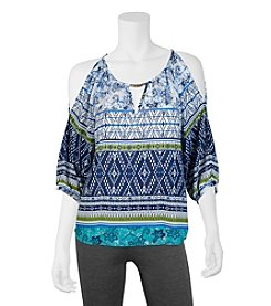 A. Byer Printed Peasant Top