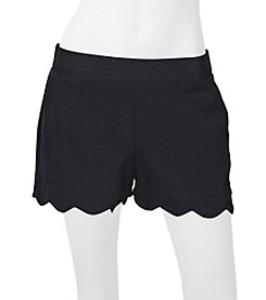 A. Byer Scalloped Shorts