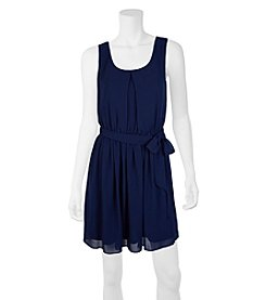 A. Byer Pleated Fit And Flare Dress