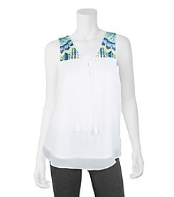 A. Byer Embroidered Tank