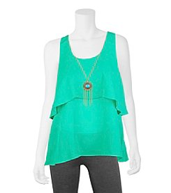A. Byer Popover Necklace Top