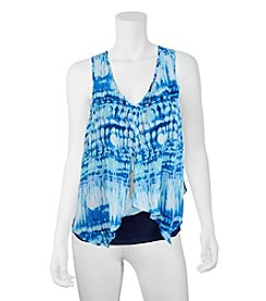 A. Byer Tie Dye Necklace Tank