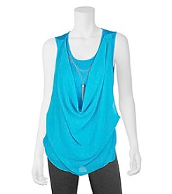 A. Byer Draped Necklace Tank
