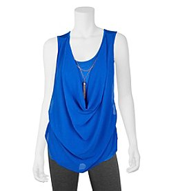 A. Byer Draped Necklace Top