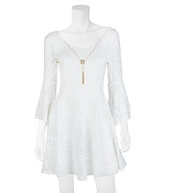 A. Byer Lace Necklace Dress