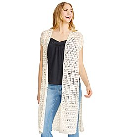 Jessica Simpson Bay Crochet Duster