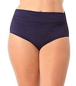 Anne Cole® Plus Size High Waist Shirred Bottom