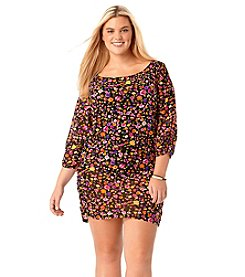 Anne Cole® Plus Size Rosebud Tunic Cover-Up