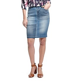 Vintage America Blues™ Patch Denim Skirt