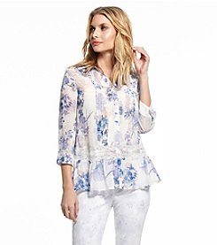 Vintage America Blues™ Lace Insert Woven Top