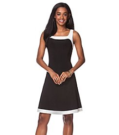 Chaps® Two-Toned Jersey Dress