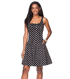 Chaps® Polka-Dot Sateen Dress