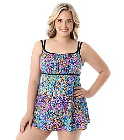 Longitude® Plus Size Star Quality Swim Dress