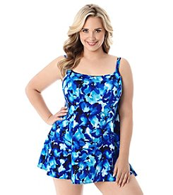 Longitude® Plus Size Key Largo Swim Dress