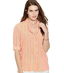 Lauren Ralph Lauren® Plus Size Crepe Long-Sleeve Tunic