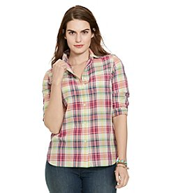 Lauren Ralph Lauren® Plus Size Plaid Cotton Shirt
