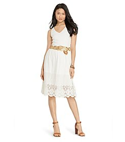 Lauren Ralph Lauren® Embroidered Jersey Dress