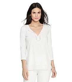 Lauren Ralph Lauren® Lace-Trimmed Cotton Tunic