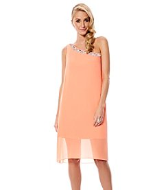 Laundry by Shelli Segal Crepe Sequin Dress
