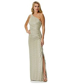 Laundry by Shelli Segal® Metallic Crinkle Gown