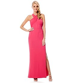 Laundry by Shelli Segal® Wrap Crepe Gown
