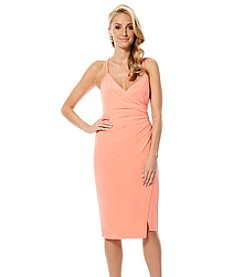 Laundry by Shelli Segal Ruched Cocktail Dress