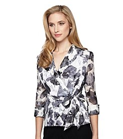 Alex Evenings® Printed Wrap Blouse