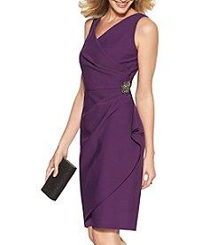 Alex Evenings® Ruched Broach Dress