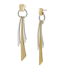Robert Lee Morris Soho™ Two Tone Geometric Stick Linear Earrings