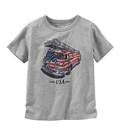 OshKosh B'Gosh® Boys' 2T-7 Short Sleeve Firetruck Tee