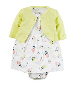 Carter's® Baby Girls' 2-Piece Floral Dress With Cardigan Set